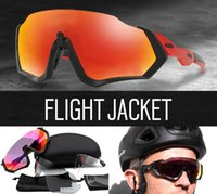 Wholesale extra lenses - 2018 New Cycling Eyewear Flight Jacket Men Fashion Polarized TR90 Sunglasses Outdoor Sport Running Glasses with 2 extra lens