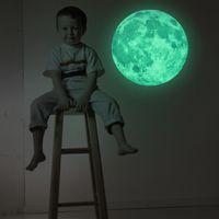 Wholesale decor vinilos for sale - Group buy 30cm Large Moon Glow in the Dark Luminous DIY Wall Sticker Living Home Decor Adesivo De Parede Vinilos Paredes Stickers Muraux
