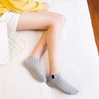 weiße strickstiefel großhandel-Knöchel 10 Paare Knöchel-Ineinander greifen-Baumwollsocken-Frauen strickten dünne Boots-Socken für Damen-Mädchen-feste weiße warme Socken des Elastick 3d Standard