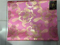 rosa sego headtie großhandel-rosa und gold Hochzeit afrikanischen sego headtie afrikanischen Stoff Sego Headtie, GeleIpele, Kopf TieWrapper, 2Pcs / Set