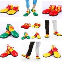 fantasia de cabeça grande venda por atacado-Moda Halloween Cosplay de Palhaço Decoração de Palhaço Vestido Adulto Sapatos Palhaço Anime Sapatos Engraçados Grandes Sapatos de Cabeça T7I606