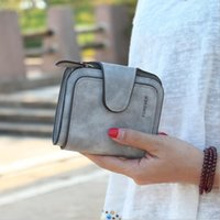 Wholesale snap clutches - 2018 Vintage Matte Women Wallet Fashion Small Female Purse Ladies Snap Fastener 3 Solid Letter Zipper Short Clutch Women Wallet