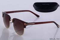 óculos de lentes azuis venda por atacado-Top quality new moda óculos de sol para tom man mulher eyewear designer marca óculos de sol ford lentes com caixa 52