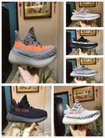 Wholesale zebra print brown - 2018 SPLY Boost 350 V2 Running Shoes AH2203 CP9654 SemiFrozen Yellow Blue Tint Zebra Cream White Bred Kanye West Casual Shoes