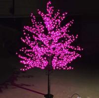 ingrosso ha condotto l'albero artificiale della ciliegia chiara-1.5M all'aperto artificiale impermeabile ha condotto la lampada dell'albero 480LEDs dell'albero di Natale del fiore di ciliegia per la decorazione domestica di festival