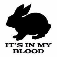 ingrosso sangue animale-HotMeiNi All'ingrosso 20pcs / lot 14.7cm * 16cm Personalizzati Animal Blood Rabbit Adesivi per auto divertenti Accessori