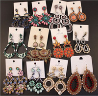 Wholesale vintage national bohemian - Mixed Lot Vintage Bohemian Dangle Earrings Womens National Style Retro National Style Retail Choice Hanging Earring Hook Earrings