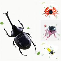 wissenschaft spielzeug neu großhandel-Insektenform Solarenergie Kind Spielzeug Kreative Interessante Krabben Hummer Heuschrecke Wissenschaft Bildung Spielzeug Neu Kommen 11yj C R