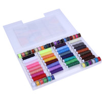 наборы инструментов оптовых-DIY швейные наборы инструментов 32 цвета вышивка нить швейные путешествия набор портативный 64 тома линия с коробкой для ручной работы