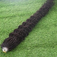 extensões de cabelo brasileiro venda por atacado-Extensões 100g 1g / s do cabelo humano do laço do cabelo profundo brasileiro da onda do micro micro extensões extensas 100g do cabelo humano do laço do cabelo da micro extensão 1g / s