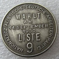 Wholesale Wholesale Craft Ornaments - H(36)Germany Commemorative Coins 1944 Copy Coins Brass Craft Ornaments