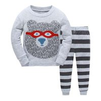 family for kids UK - New Kids Pajamas set Boys animal picture Pyjamas girls cotton cute sleepwear Sets Children nightwear Family pajamas for kids