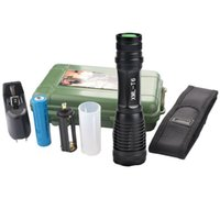 Wholesale cree flashlight - New Upgrade High Power CREE XML T6 Modes Lumens LED Flashlight Waterproof Zoomable Torch lights for xAAA or x18650 battery set