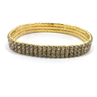 1-5 Rows GOLD COLOR Crystal Rhinestone STRETCH CZ Ankle Bracelets For SEXY Women Foot Anklets Chain Summer Beach Jewelry supplies