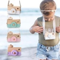 Wholesale wholesale baby toy camera - Childrens Wooden Camera Christmas Kids cool travel Mini toy Baby cute Safe Natural Birthday Gift decoration Children's Room