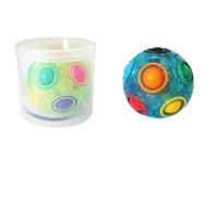 Wholesale magic toys balls resale online - Adult Children Decompression Toy The Explosion Magic Power Rainbow Luminous Ball Fidget Vent Reduced Pressure Product yc W