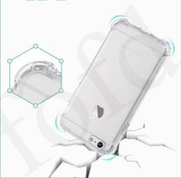 Wholesale Thick Phone Cases - Shock proof Clear Gasbag Air Cushion Thick Soft TPU Cellphone CaseFor Iphone X iPhone 8 7 6 Plus iphone 5S Phone Protect Cases 100pcs DHL