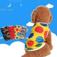 Wholesale super suits resale online - Fashion Dot Camouflage Style Dog Vest Breathable Summer Spring Pet Cloth Super Comfortable Small Puppy Suit Apparel dc Z