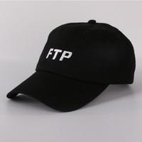 gorras de hip hop para niñas al por mayor-FTP gorra de béisbol snapback hip hop sombrero de papá drake hombres mujeres que acampan caza verano al aire libre niñas visera playa sombreros de sol bone camionero caps