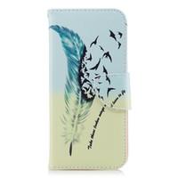 ingrosso portafogli uccelli-Cool Feather Birds Custodia per telefono Custodia in pelle PU con portafoglio Porta biglietti 165 Modello per opzione
