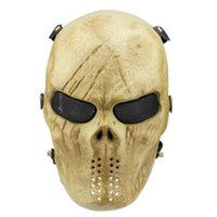 ingrosso proiettori di film horror-Natale Full Face Masquerade Eco Friendly Horror Skull Proteggi Maschera Film Prop Airsoft Plastica Flessibile Payty Maschera CCA10281 20 pz
