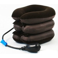 Wholesale neck cervical vertebra massager - 3 Layers Relax Soft Air Neck Massager Adjustable Inflatable  Shoulder Cervical Vertebra Neck Traction Treatment
