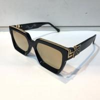 солнцезащитные очки cr 39 оптовых-Luxury MILLIONAIRE Солнцезащитные очки для мужчин полный кадр Винтаж дизайнер 1165 1.1 Солнцезащитные очки для мужчин Shiny Gold Logo Горячее надувательство Позолоченный топ 96006