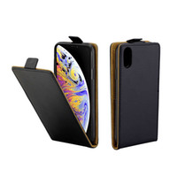 iphone vertical al por mayor-Funda de piel de negocios para Coque iPhone XS Max Funda con tapa vertical Fundas para ranuras de tarjetas para iPhone 6.5 pulgadas Bolsas para teléfonos móviles