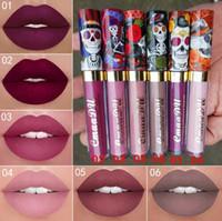 lipgloss für mädchen großhandel-Neue marke make-up 6 farben matte lippenstift langlebig flüssigen lippenstift samt lipgloss schönheit mädchen