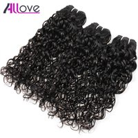 Wholesale best pure water - Free Shipping Allove Best 10A Water Wave 3 Bundles Brazilian Hair Peruvian Body Wave Cheap Malaysian Human Hair Extensions Indian Wholesale