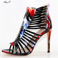босоножки в стиле римского стиля оптовых-Римский стиль сандалии женщин 2017 модные туфли на высоких каблуках свадебные туфли для женщин леди сандалии плюс размер x161019