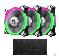 Wholesale cm computers - Aigo fan iridescence RGB 12 cm aurora aperture water multimodal cooling fan octave space C3 computer desktop