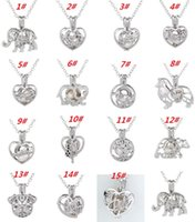 Wholesale jewellery - New New New Love Wish Pearl Cages Locket Necklace Hollow Out Oyster Freshwater Pearl Elephant Life Tree Love DIY Mother s Day Jewellery