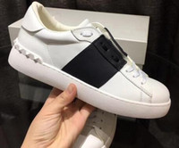 bonitos apliques de encaje al por mayor-2018 mujeres zapatos de los hombres Zapatos casuales Lace Up Designer Comfort Pretty Girl Women Sneakers Zapatos de cuero casuales Hombres Mujeres Zapatillas talla 35-46