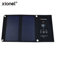 Wholesale mini solar cells - 15W Dual Ports USB Solar Charger high-efficiency SUNPOWER solar panels for iPhone 6 6 Plus, iPad Air 2 mini 3, Galaxy S7 S6 S6 Edge and More