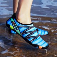 ingrosso uomini scalzi-Scarpe acqua moda uomo e donna Quick Dry Sneakers leggera a piedi nudi in acqua per uomo Donna che fa surf nuotando Yoga a piedi