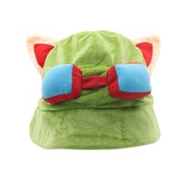 Wholesale teemo cosplay online - DHL Hot game League of Legends cosplay cap Hat Teemo hat Plush Cotton LOL plush toys Hats