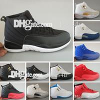 neue chinesische basketballschuhe großhandel-Mens Günstige New 12 Rot Grippe Spiel Chinese New Year Taxi Gamma Blau Basketball Schuhe Turnschuhe für Männer Outdoor Sports Schuhe Größe US 5,5-13