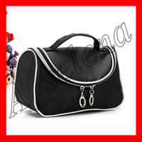 Wholesale hot nylon cosmetic bag for sale - Group buy New M brand Makeup Bag With Zipper Hot Brand Professional Waterproof Cosmetic Bags for women makeup tools packed