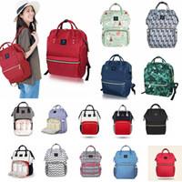 Wholesale Nurses Tote Bags - Diaper Bags Mommy Maternity Backpacks Nursing Travel Nappies Backpack Laptop Bags Organizer Totes Handbags large Capacity FFA317 24styles