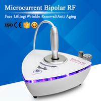 casa de microcorriente al por mayor-Portátil Microcorriente Bipolar RF Lifting Facial Antienvejecimiento Eliminación de arrugas de radiofrecuencia Cuidado de la piel Uso en el hogar RF Treatment Beauty Machine