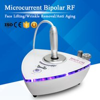 Wholesale microcurrent machine home resale online - Portable Microcurrent Bipolar RF Face Lift Anti Aging Radio Frequency Wrinkle Removal Skin Care Home Use RF Treatment Beauty Machine