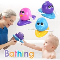 Wholesale plastic toy frogs - Wholesale Safety Baby Bath Water Toy Floating plastic Dolphin cray goldfish penguin frog Kids Toys Cute Swimming Toy Shower Beach Play toys