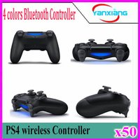 Wholesale playstation games free for sale - PS4 Bluetooth Game Controller Gamepad SHOCK4 Playstation High quality with retail box free DHL shipping in stock YX PS