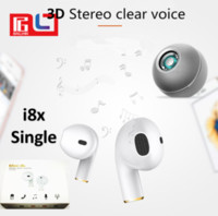 Wholesale dhl x mini - Mini-i8x Wilreless Single Earphone With Microphone Music Calling Sport Bluetooth Headset For Iphone x Retail Box Free DHL