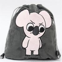 colección de ropa al por mayor-Mochilas de peluche con relleno Colección de bolsos Ropa de animales de dibujos animados lindo Misceláneas Tote Bag Baby Kids Toys Comestic Packet Shop Package
