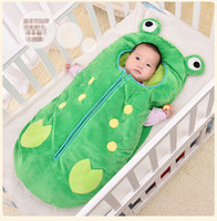Wholesale Mattress Bedroom - INS Baby Frog Sleeping Bags cotton Silk floss cartoon Mattress Sofa Bedroom Blankets Travel Blankets Newborns clothrs B001