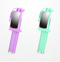 ayna monopodu toptan satış-Mini Kablolu Ayna Özçekim Sopa iPhone 6 için 6 S 5 s Samsung Android Monopod Pau de Özçekim Ön / Arka Kamera Palo