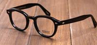 Wholesale Arrow Designs - new design Moscot lemtosh eyewear johnny depp sun glasses frames top Quality round eyeglasses sunglases frame Arrow Rivet 1915 S M L size
