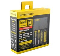 bulbo de iões venda por atacado-NITECORE i4 4 Slots Carregador de Bateria Intellicharger 2018 Li-ion Carregador Inteligente Ni-MH 4 Slot 18650 NiCd Carregador de Bateria